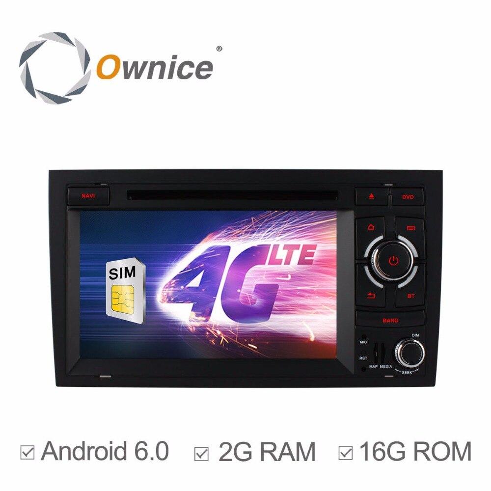 SIM 4G LTE coche DVD Radio Estéreo reproductor para AUDI A4 2002-2008 SEAT EXEO 2009-2012 Quad Core 2GB RAM Android 6,0 GPS de navegación