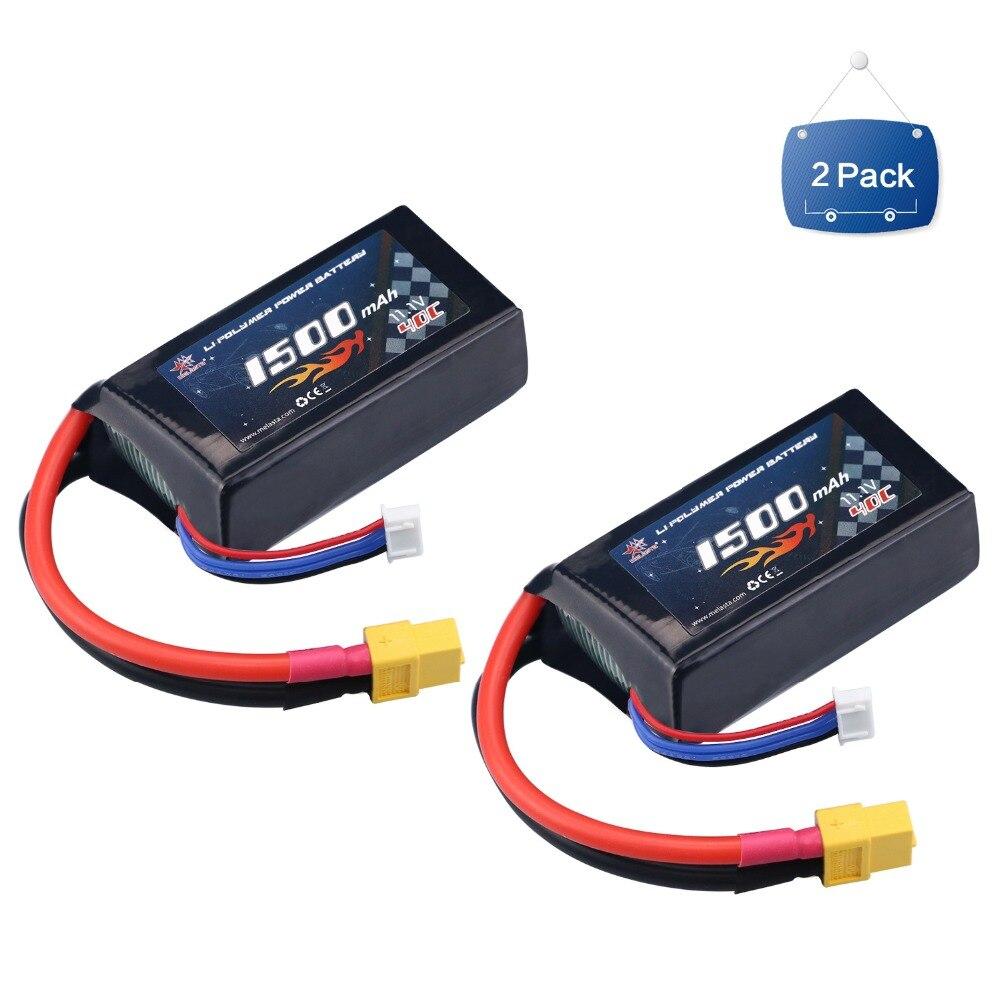 Аккумулятор Melasta LiPo, 2 упаковки, 1500 мА/ч, 40C, 3S, 11,1 В, С XT60, для радиоуправляемого самолета, Heli, гоночный автомобиль, игрушечный автомобиль