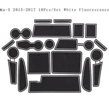 Para ISUZU MU-X Chevrolet AVEO 2011-2014 2014-2016 2017-2018 TRAX conjuntos de alfombra con ranura antideslizante calcomanía luminosa alfombrilla para compartimento de puerta