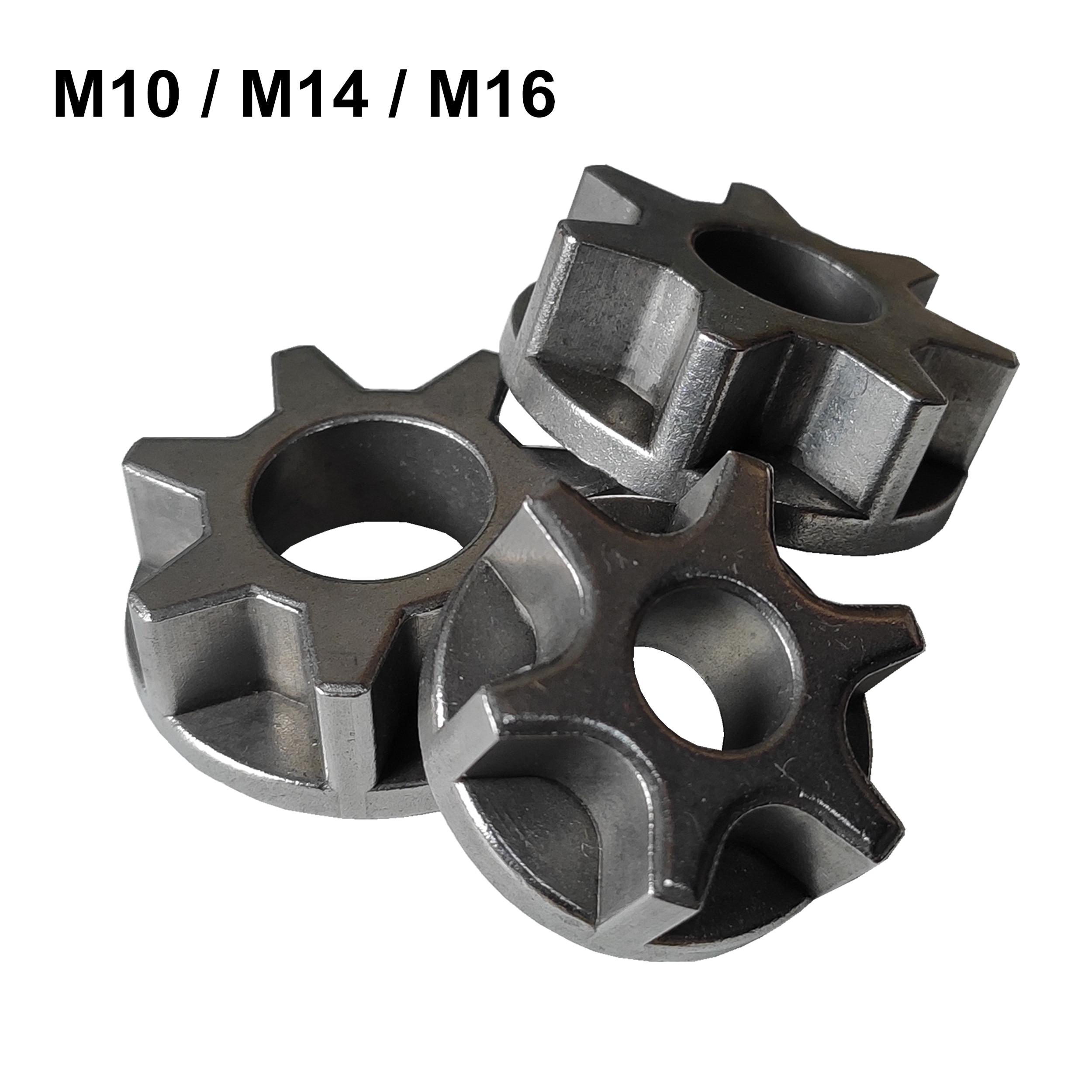 M10/M14/M16 motosierra de 100, 115, 125, 150, 180 repuesto de lijadora en ángulo de soporte de motosierra asterisco de herramienta de poder de accesorios