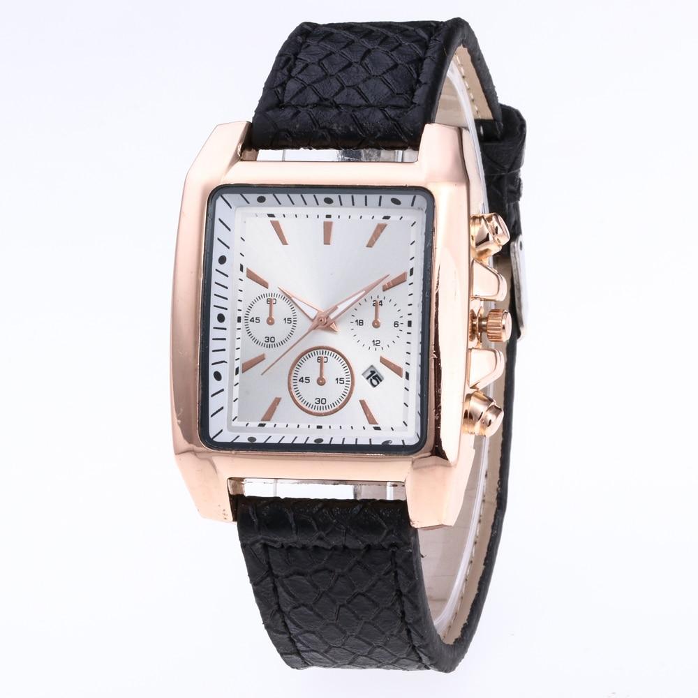 Reloj Esfera Grande rectangular militar de negocios para hombre, reloj con calendario de cuarzo, relojes deportivos para hombre, reloj Masculino GJC-27