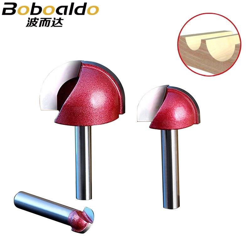 1PCS-Round inferior Gravura Bits CNC metal duro de moagem cortador de aço de tungstênio ferramenta de madeira, carpintaria router bit ferramenta de madeira MDF