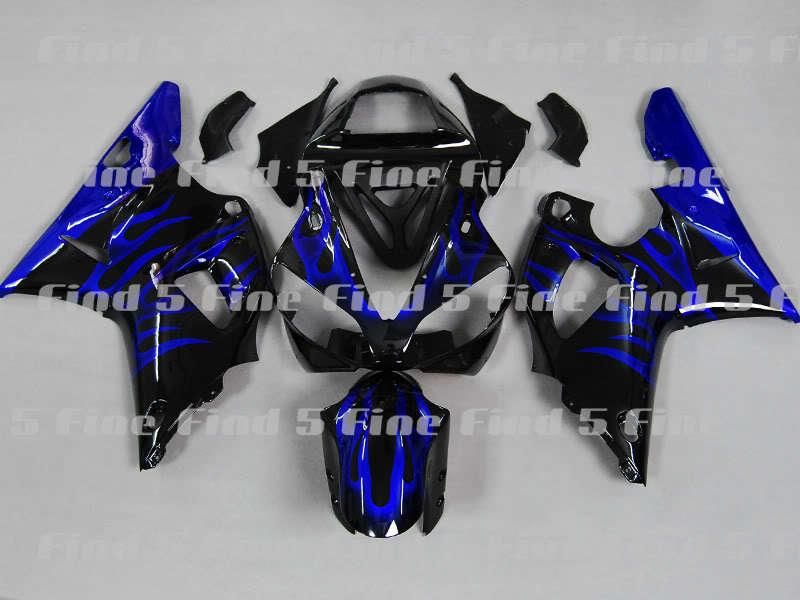 Chama azul preto para yamaha yzfr1 00-01 yzf r1 2000-2001 00 01 YZF-R1 2000 2001 abs kit carenagem da motocicleta + 3 presentes