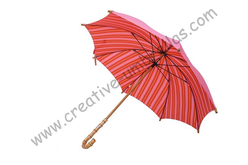 Orden de mezcla permitida paraguas de bambú de naturaleza recta, doble capa, mano abierta para el mercado de España, opción de paraguas de alta calidad