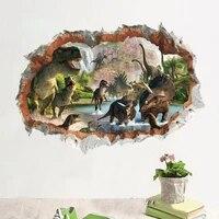 Film Jurassic Park  autocollants muraux danimaux dinosaures  pour chambres denfants  decor de maison  Stickers muraux 3d vifs  affiche dart Mural en pvc