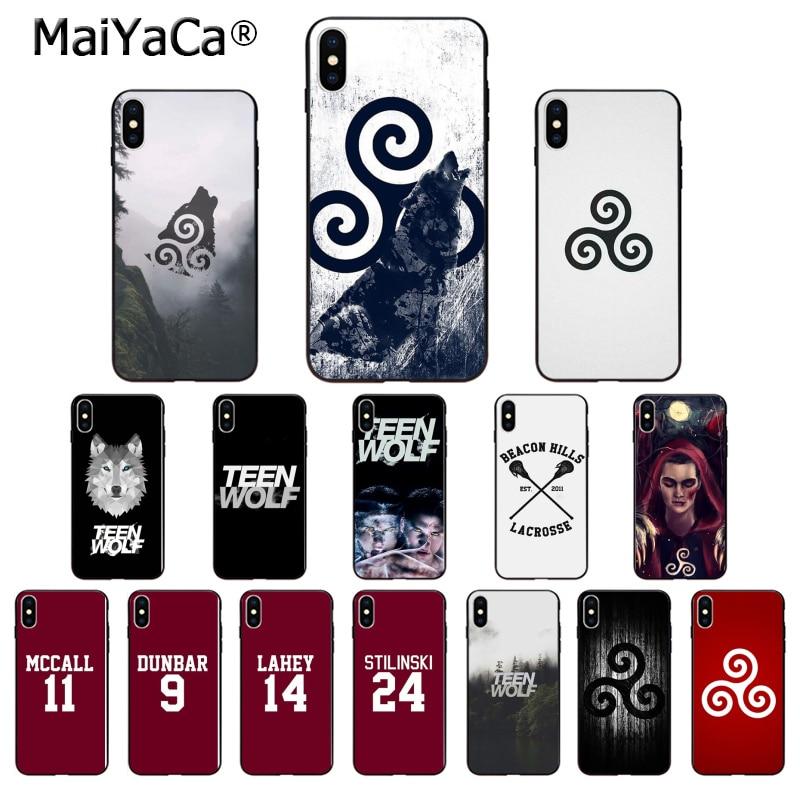 Maiyaca teen wolf tpu macio silicone caso de telefone capa para apple iphone 8 7 6 s plus x xs max 5 5S se xr casos móveis