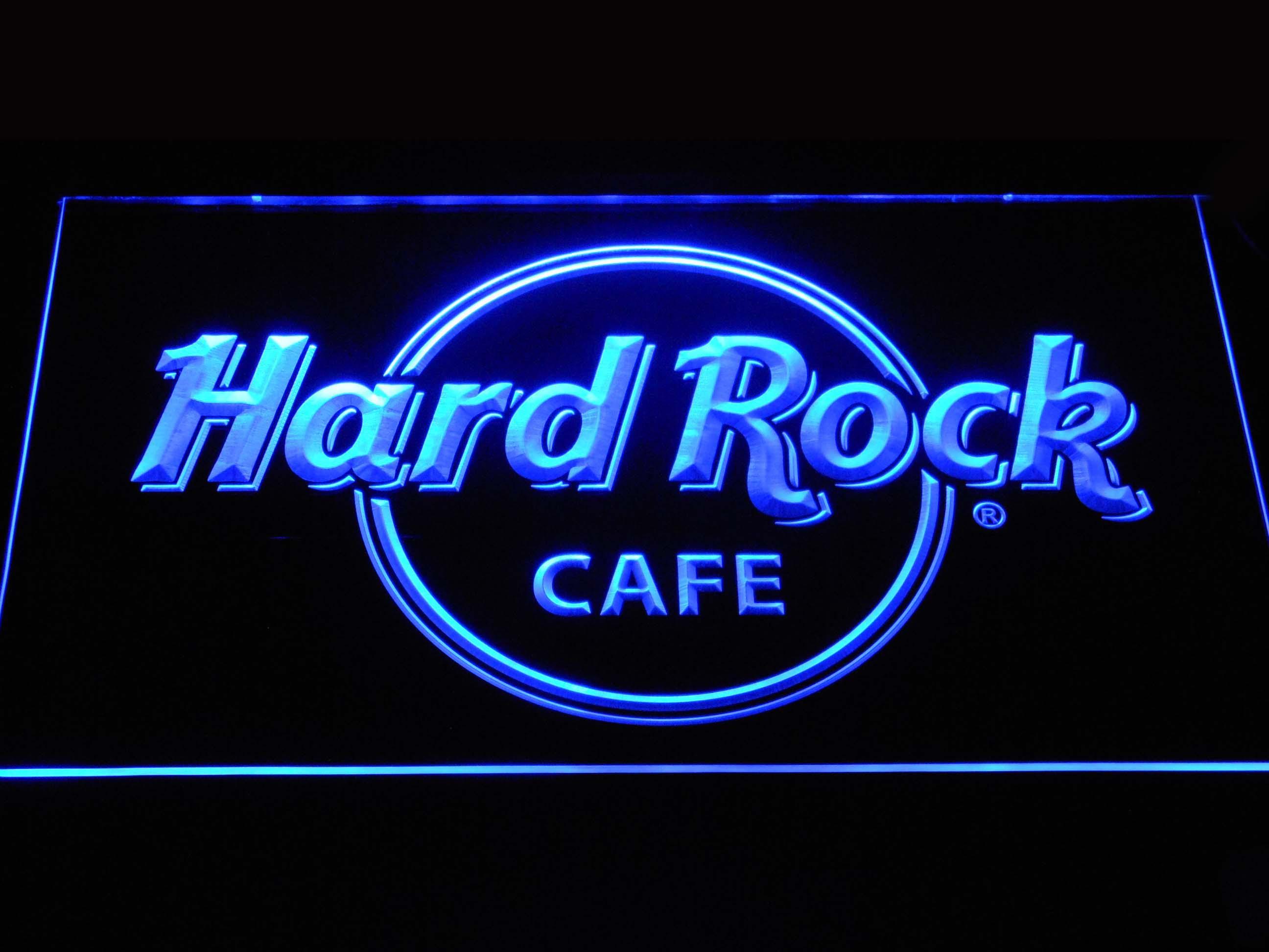 Cartel de neón a251 Hard Rock Cafe LED con interruptor On/Off 7 colores a elegir