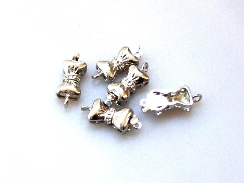 ENVÍO GRATIS>> arco de plata antigua plateada aleación broche de collar pulsera joyas de marca 10 unids