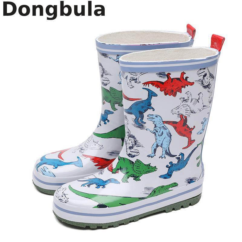 أحذية المطر للأطفال ، للأولاد والبنات في الهواء الطلق ، أحذية مطاطية مقاومة للماء ، أحذية ديناصور كرتونية لطيفة للأطفال ، أحذية مائية غير قا...