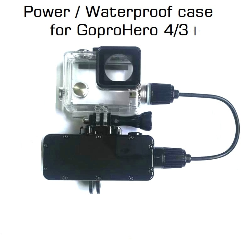 Banco de energía para GoPro Hero 8/7/6/5/4/3 Cámara de Acción 5200mAh cargador de batería impermeable funda impermeable Gopro carcasa/caja de carga
