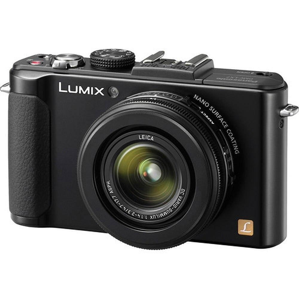 VERWENDET, Panasonic LUMIX DMC-LX7K 10,1 MP Digital Kamera mit 3.8x Optische zoom und 3,0-zoll LCD-Schwarz