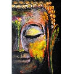 Высококачественные абстрактные рисунки будды ручной работы, художественная живопись Будды для гостиной