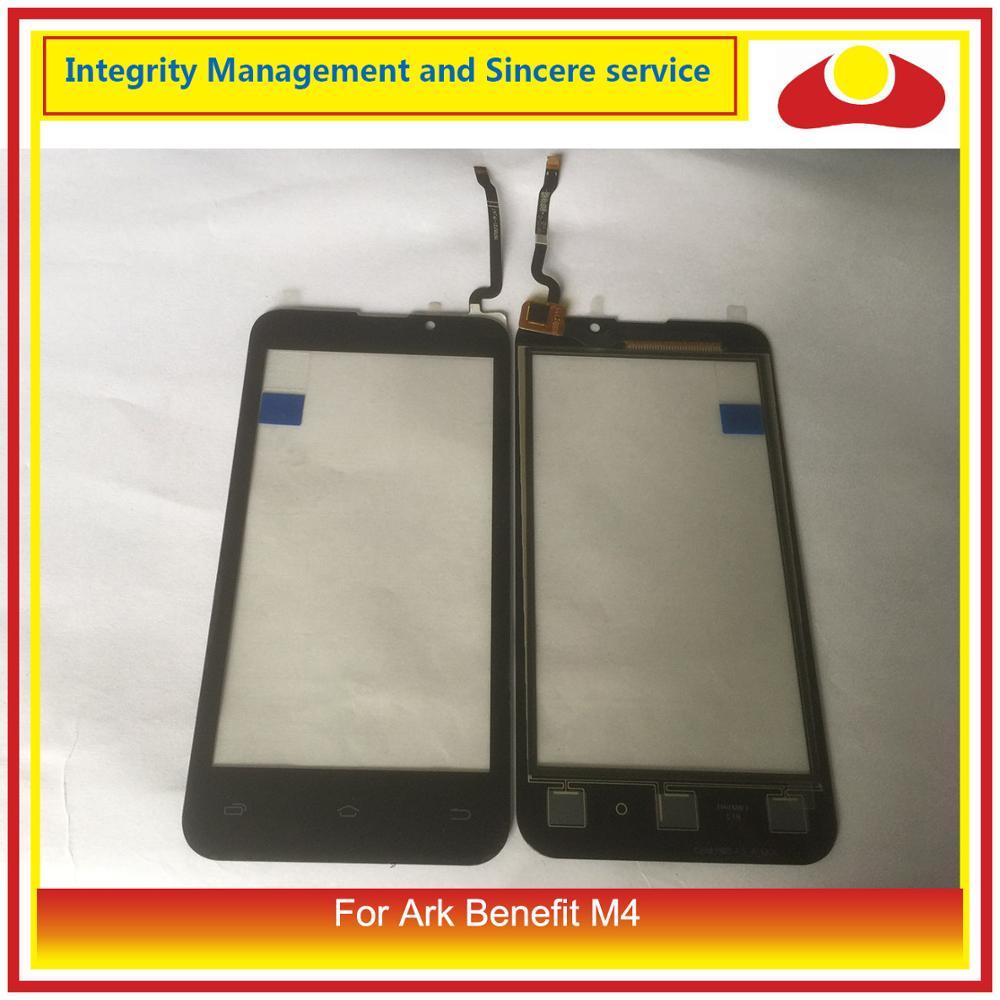 ORIGINAL para Ark Benefit M4 Sensor de pantalla de Panel táctil lente de cristal exterior para pantalla táctil Ark Benefit M4