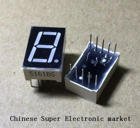 """5 pièces LD-5161BG 1 chiffre 0.56 """"vert 7 segments LED affichage ANODE commune DIP-10"""