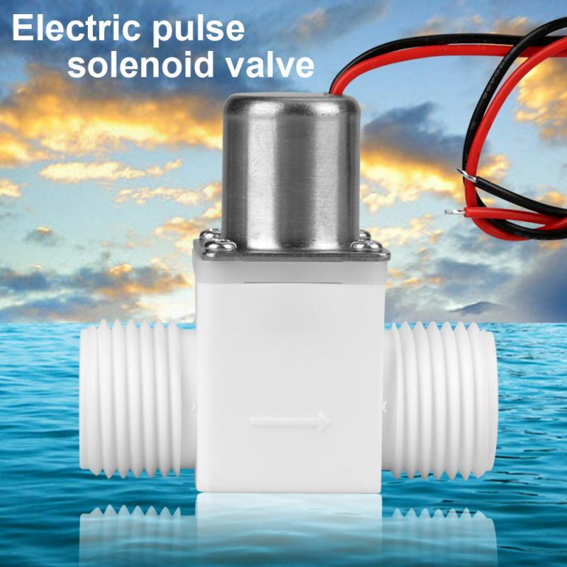 """Соленоидный клапан прочный пластиковый водяной клапан 1/2 """"DC 3,6 V контроль воды Электрический Импульсный Соленоидный клапан аксессуар tapones valvula"""