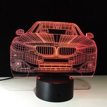 LED Car 3D lampa iluzoryczna 7 zmiana koloru latarnia LED nocna dekoracja świetlna lampa oświetlenie sypialni dla chłopca zabawka dla dziewczynki Brithday prezent