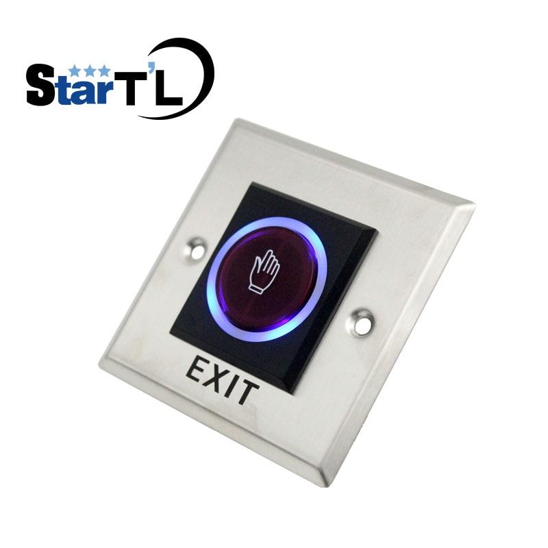 Envío Gratis, interruptor de Sensor de botón de salida de puerta liberador de puerta sin contacto táctil infrarrojo con indicación LED para sistema de Control de acceso