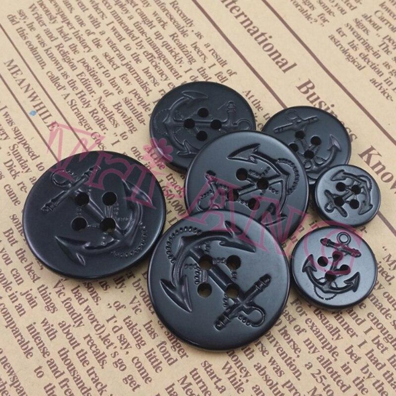 20 unids/lote 15mm 19mm, 22mm, 25mm, 28mm, 30mm Antiflaming negro ancla botones de urea