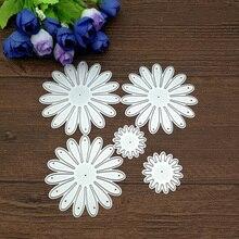 5 teile/satz Handwerk Stirbt Blume Decor Metall Stanzformen Scrapbooking briefmarken präge papier Karten grenze vorlage punch Schablonen DIY