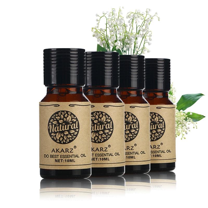 AKARZ Berühmte marke Cypress Myrrhe Lorbeer Lavendel ätherisches öl Pack Für Aromatherapie, Massage,Spa, bad 10ml * 4
