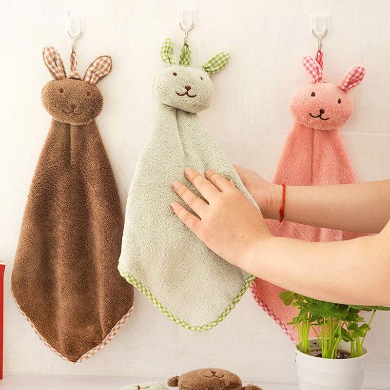 Kaninchen Hase Bunny Mikrofaser Glas Gericht Beatch Hand Handtuch Schnell Trockenen Zubehör Reinigung Küche Home Bad Hängen Bad