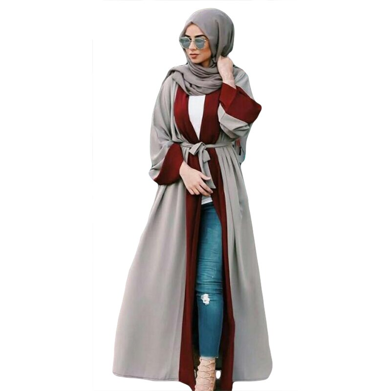 2019 Muslim Women Abaya Maxi Dress Cardigan Kaftan Loose Dubai Long Robe Moroccan Ramadan Caftan Arab Islamic Clothing Turkish