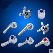 Accessoires de réparation de cartouche de robinet de douche de 35/40mm, poignée de robinet de salle de bains chromée, remplacement de volant de robinet de cuisine