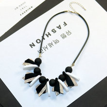 Printemps nouvelle femme colliers bijoux géométrique boule de bois pendentif corde chaîne ruban Bowknot collier accessoires de mode