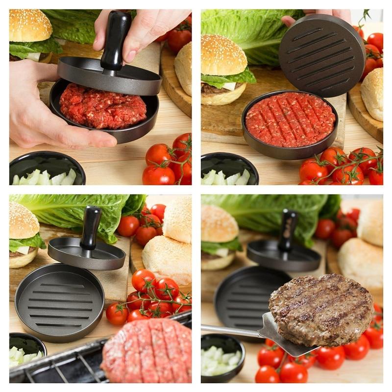 Non-Stick Burger Press Burger Press Patty Maker Mold Aluminum Hamburger Patty Maker for BBQ Grill Kitchen Accessries Chef Cutlet  - buy with discount