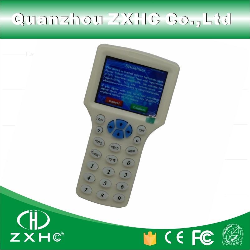 Copieur et lecteur RFID de langue anglaise   125Khz, 13.56Mhz et 10 fréquence, câble USB, pour cartes IC/ID, écran LCD