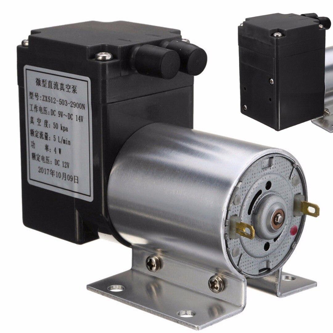 1 шт. Электрический мини Вакуумный воздушный насос высокого давления всасывающие мембранные насосы 5л/мин 80kpa DC 12В с держателем для химической промышленности