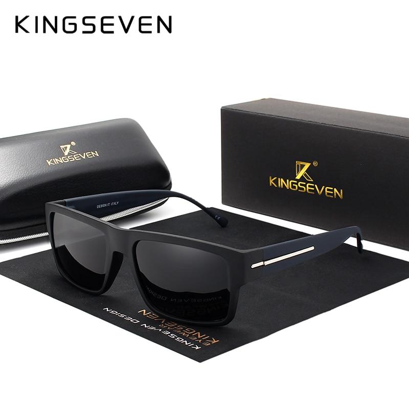KINGSEVEN Brand Fashion Sunglasses Men Polarized Sun Glasses Men's Driving Black Frame Shades Eyewear Oculos
