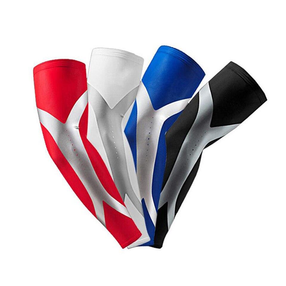 1 Uds elástico Breathale codo, brazo calentadores de secado rápido de seguridad deportes ciclismo baloncesto manguito largo protector de soporte del codo