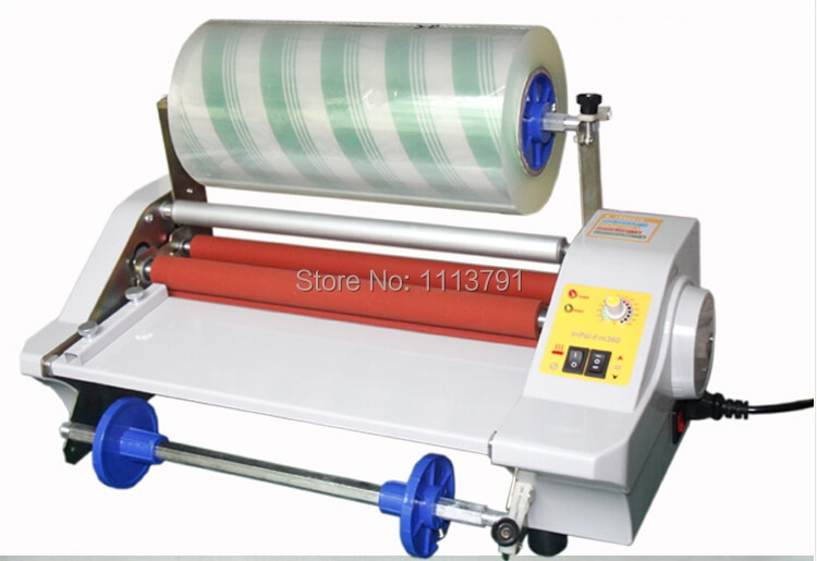 AIPU FM360J  Laminator Four Rollers,  electronic temperature control Hot Roll Laminating Machine single and sided a heating mode enlarge
