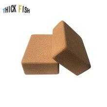 1pcs 800g yoga brick natural environmental odorless genuine can not drop the slag cork Yoga Blocks assistive