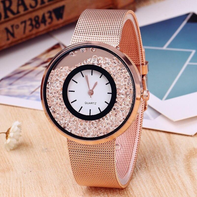 Women Watch XIRHUA Top Brand Fashion Diamond Watches Rhinestone Gold Rose Gold Silver Watches relogio feminino saat relojes