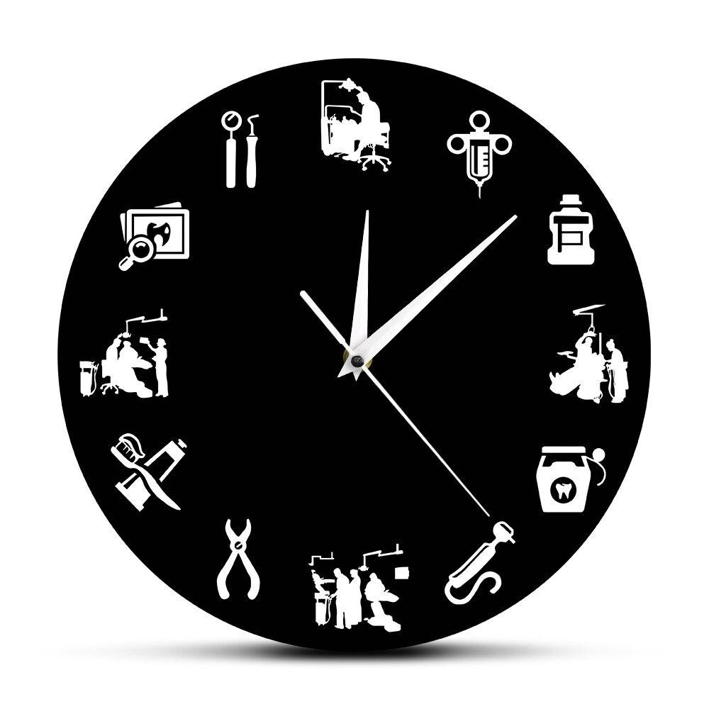 Reloj de pared moderno de higienista Dental, decoración clínica Dental, endodoncista, signo de oficina Dental, reloj higiénico, reloj de regalo para dentistas
