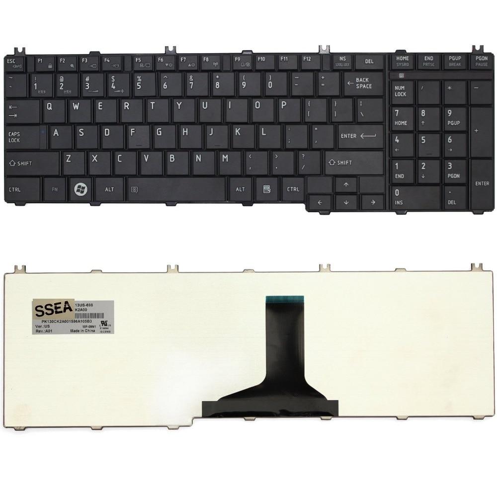 SSEA nowy US klawiatura do Toshiba z dostępem do kanałów satelitarnych C650 C650D C655 L650 L650D L655 L670 L675 Pro C650 C655 C660 C665 L650 L655 l670