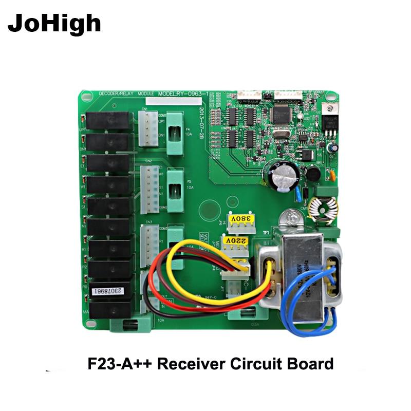 Cran JoHigh Fornecer Sem Fio receptor de Controle Remoto placa de circuito 380 V/220 V/36 V/24 V F23-A ++ uso