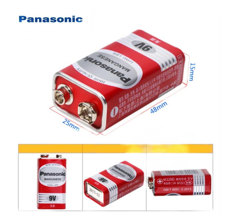 1 Uds., 100%, Original, Panasonic Greencell PP3 6F22 6LR61 MN1604 9V, bloque de batería de celda resistente