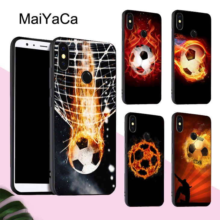 MaiYaCa, funda de fútbol Fire para Xiaomi Redmi Note 8 9 Pro K30 7 8T 9S 7A 8A Mi 10 9 Lite 9T A3 Max3 Mix3