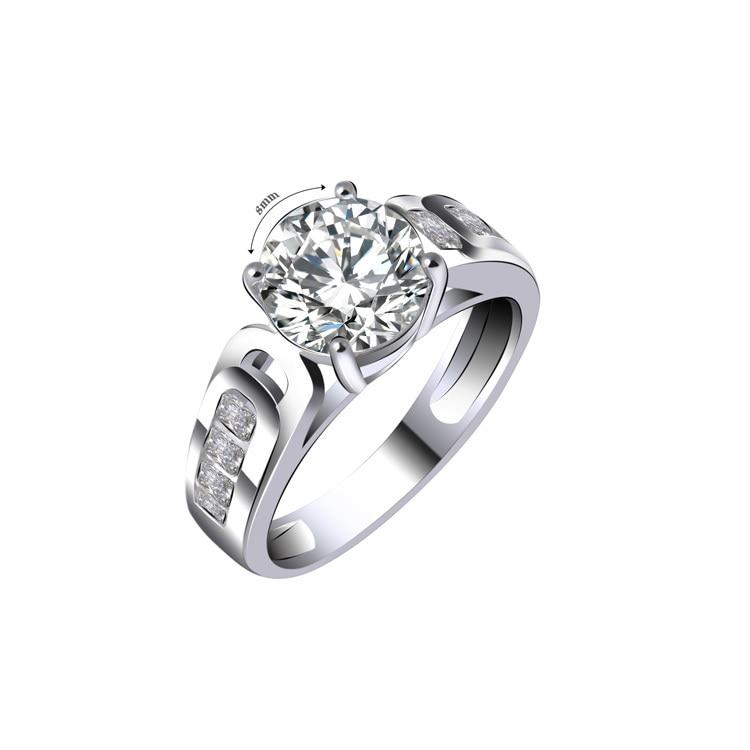 Bijoux anel de dedo anel de dedo prata anel de noivado cz zircão jóias 16r1520