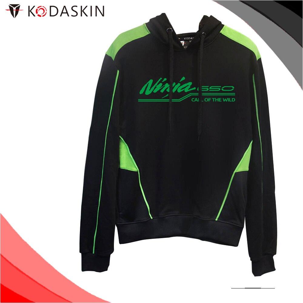 KODASKIN Men Cotton Round Neck Casual Printing Sweater Sweatershirt Hoodies for NINJA650 Ninja650