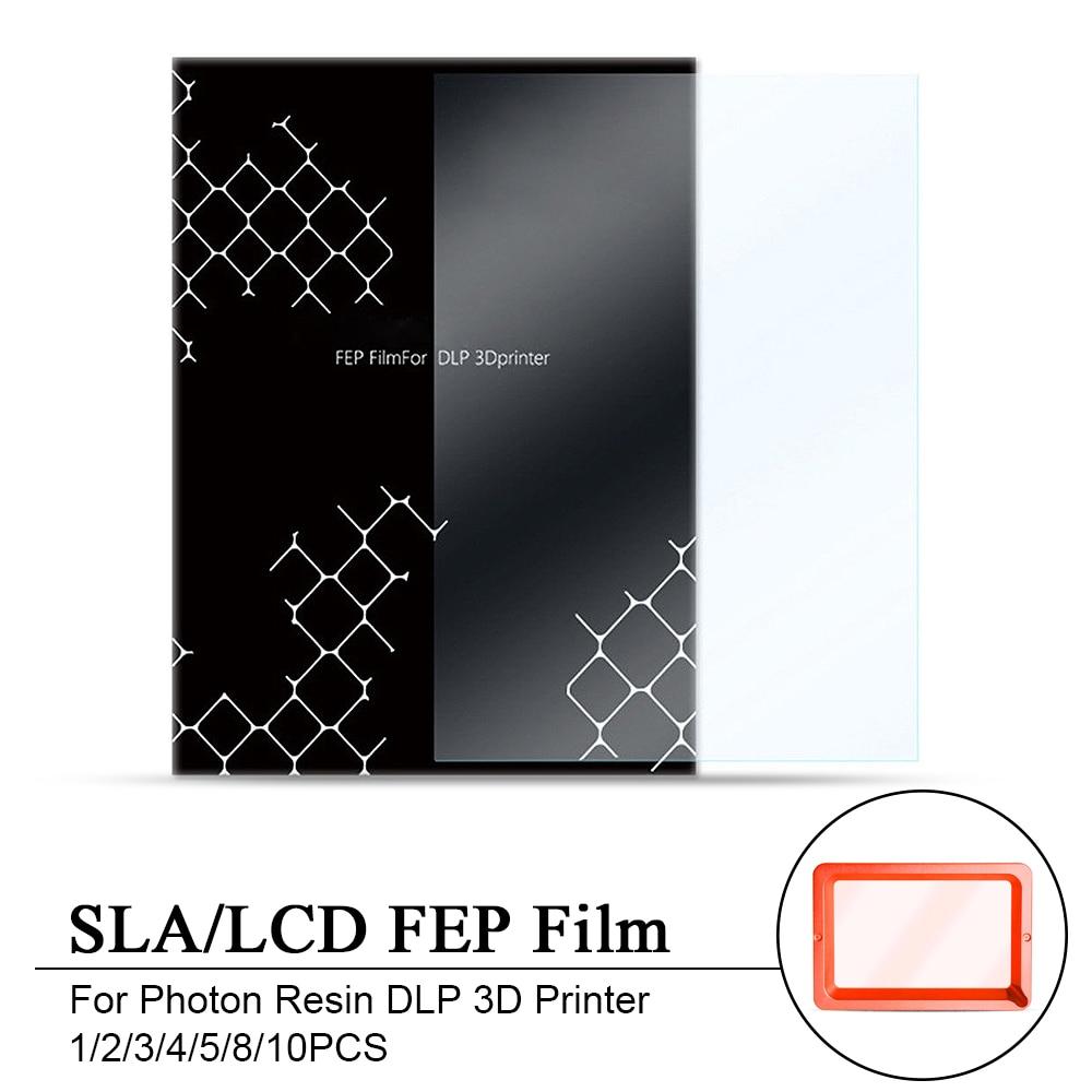 1/2/3/4/5/8/10PCS 140x200mm SLA/LCD FEP סרט 0.15-0.2mm עובי עבור פוטון שרף DLP 3D מדפסת