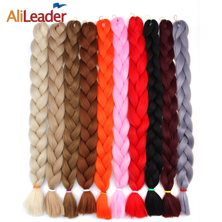 AliLeade 82Inch Braiding Hair Extensions  Jumbo Braid Hair Pink Blonde Blue Crochet Twist Hair Synthetic Hair for African Braids