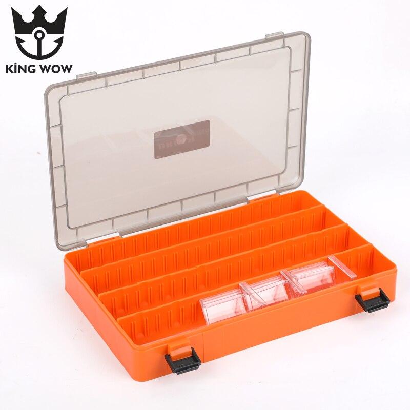 Boîte de leurre de pêche boîte de matériel de pêche en plastique Transparent Visible boîte de rangement de leurre de pêche de grande capacité accessoires doutils