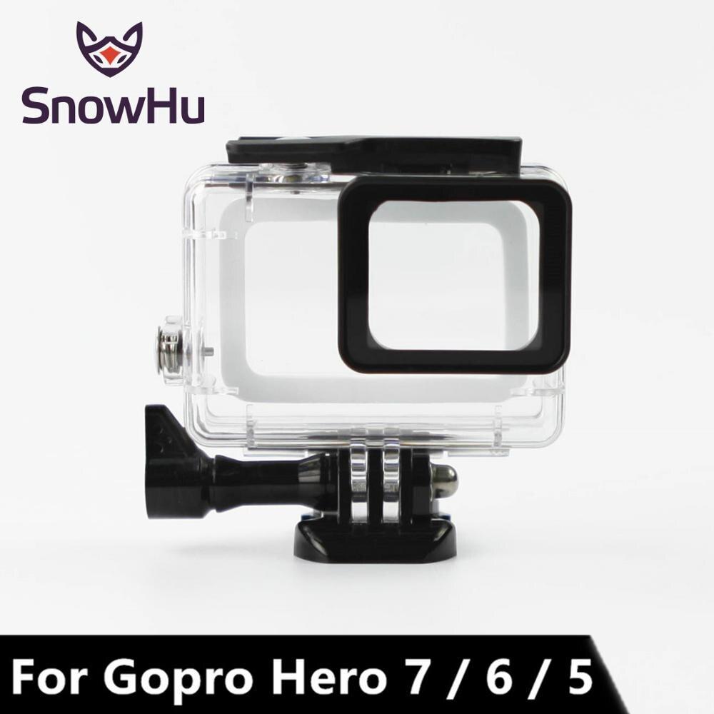 SnowHu 45M Waterpro для Go pro 7 6 5 Аксессуары для Go pro 7 6 5 водонепроницаемый корпус Чехол крепление для Gopro Hero 7 6 5 с LD08