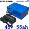 Batterie lithium 48V 45/50/55ah pour vélo et scooter électrique 1000/2000/3000W avec cellules panasonic