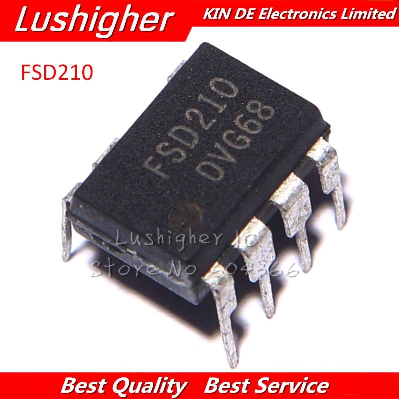 10 Uds FSD210 DIP-7 FSD210 DIP7