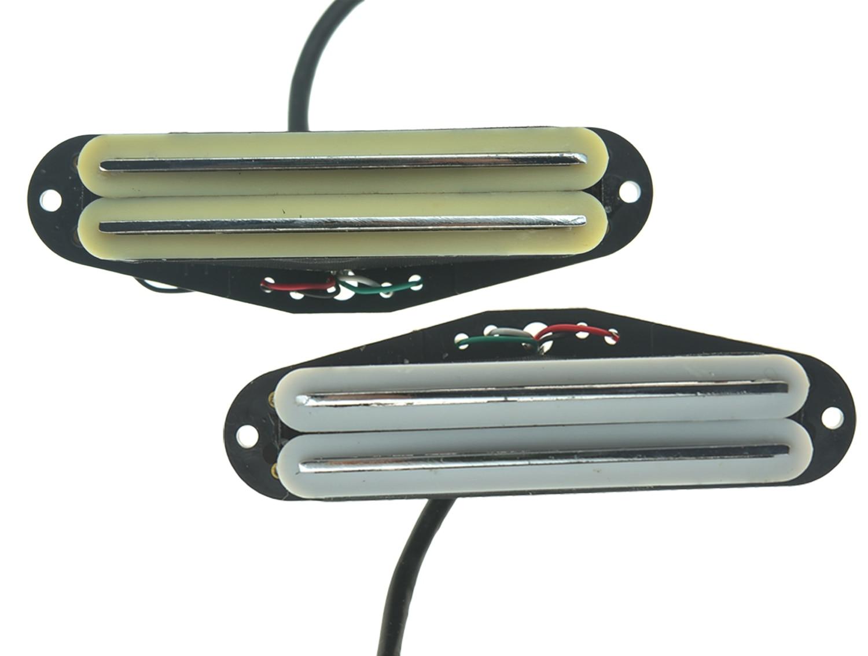 Hot Rail doble de guitarra eléctrica Dopro de alta calidad y bajo nivel de ruido Humbucker para pastilla de crema Strat o 2 colores blancos